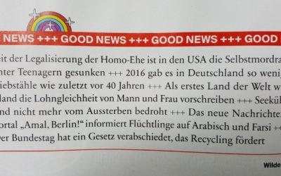 Warum wir mehr good news brauchen